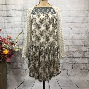 (Rare) Free People Embroidery Mirror Adorned Dress